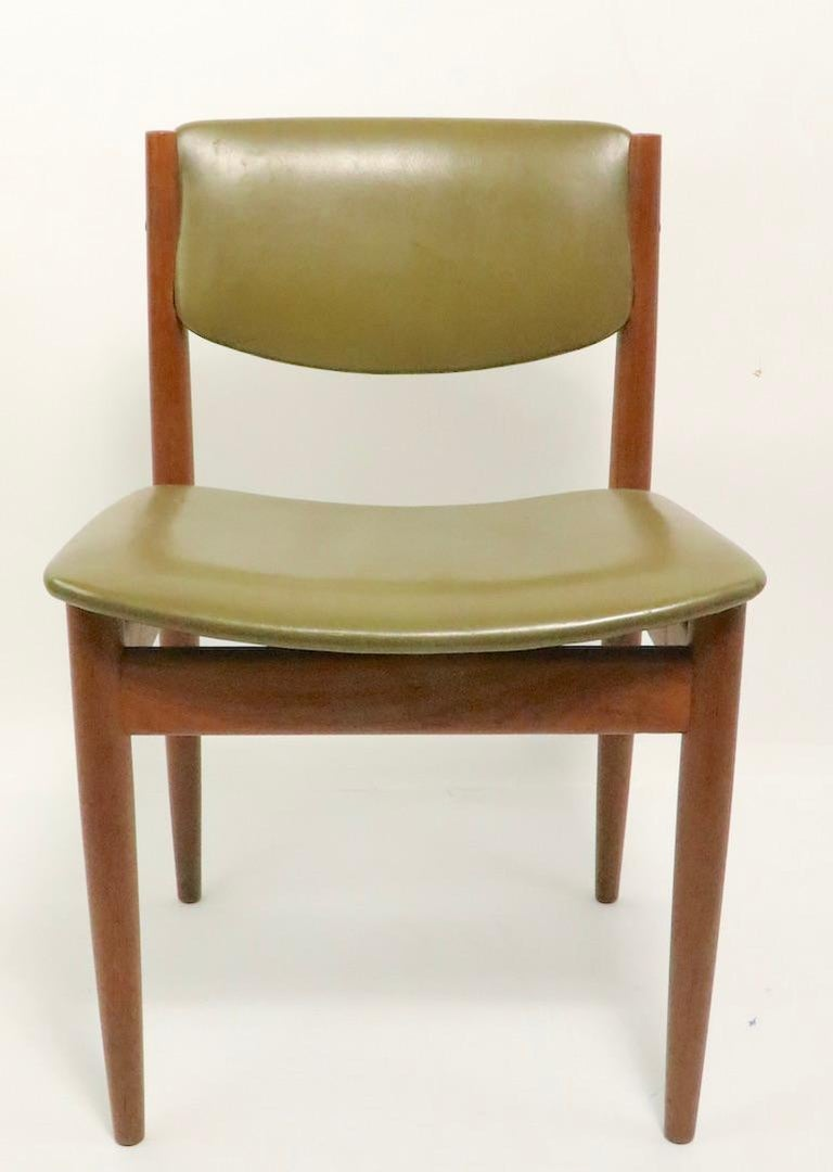 Danish Pair of Finn Juhl for France and Son Dining Chairs For Sale