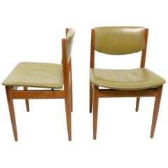 Pair of Finn Juhl for France and Son Dining Chairs