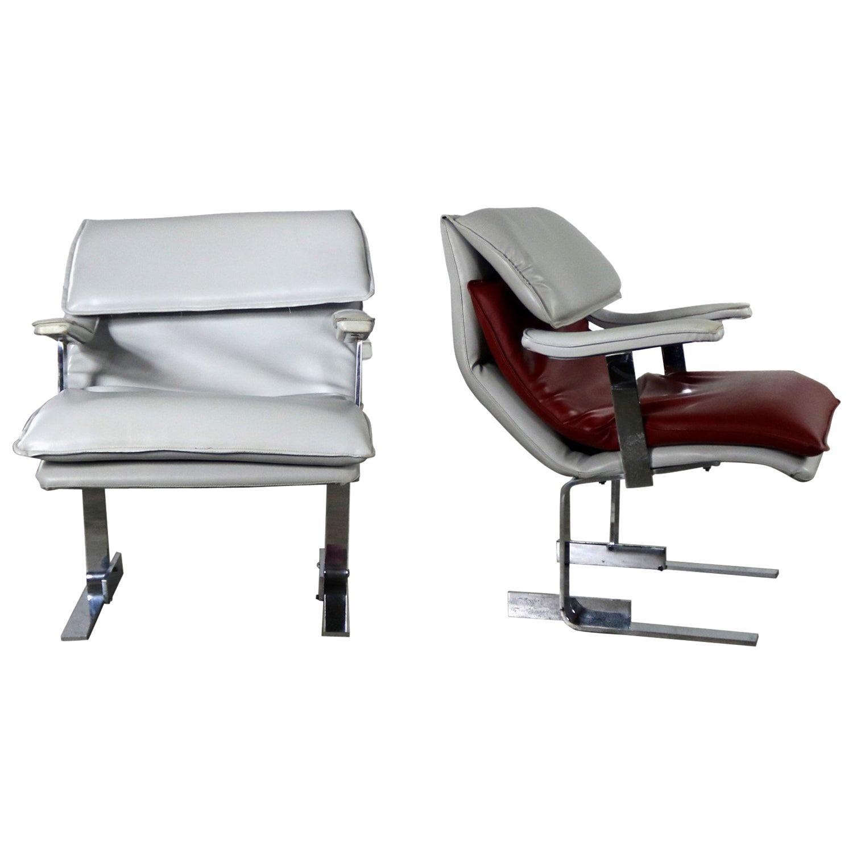 Pr G Maletti Lounge Chairs Style of Onda by Giovanni Offredi for Saporiti Italia