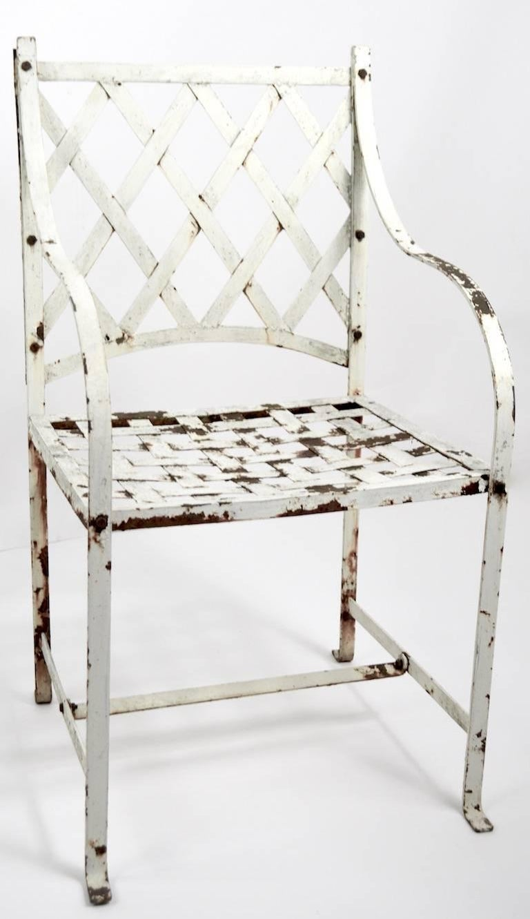 American Pair of Garden Chairs after Woodard For Sale