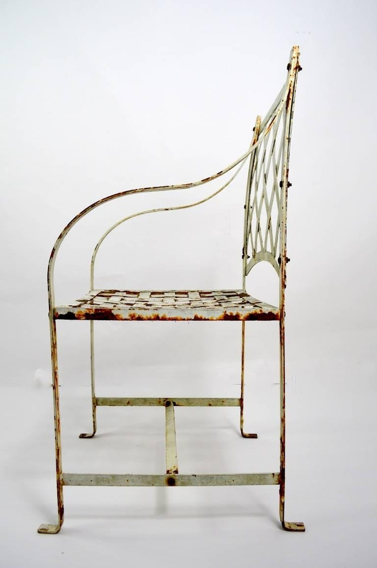 Pair of Garden Chairs after Woodard In Good Condition For Sale In New York, NY