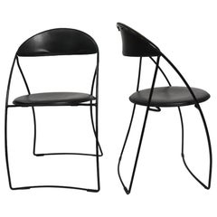 Pair of Italian Folding Chairs Attributed to Arrben