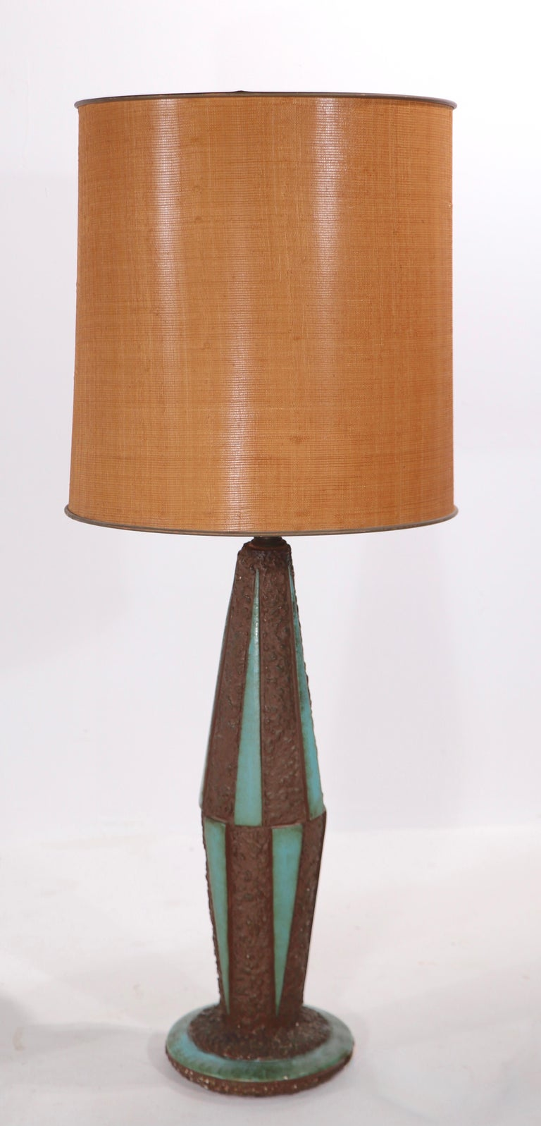 Pr. Mid-Century Modern Ceramic Table Lamps For Sale 4