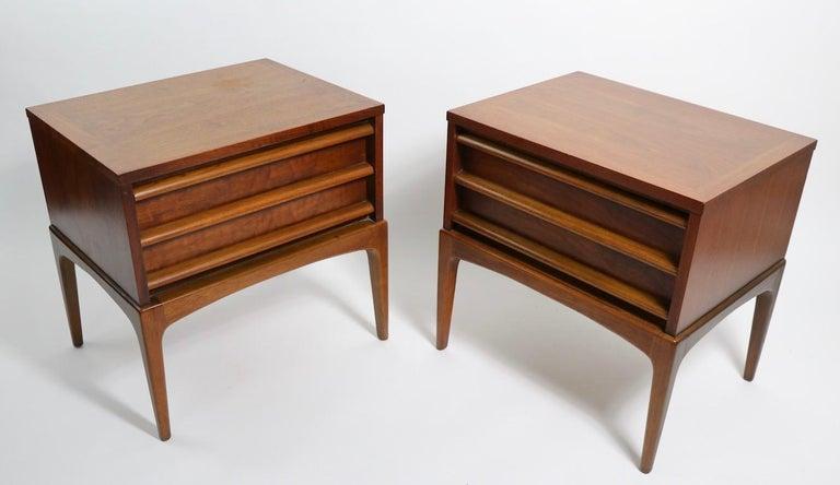 Pair of Midcentury Nightstands Rhythm by Lane Furniture 5