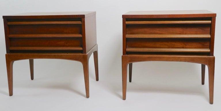 Pair of Midcentury Nightstands Rhythm by Lane Furniture 6