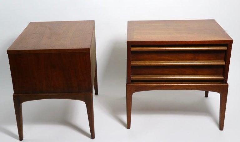 Pair of Midcentury Nightstands Rhythm by Lane Furniture 7