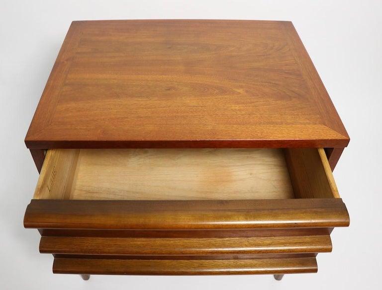 20th Century Pair of Midcentury Nightstands Rhythm by Lane Furniture