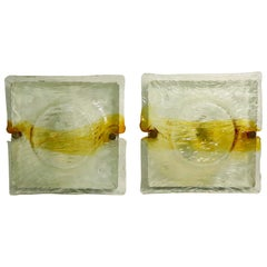 Pair of Murano Sconces Attributed to Mazzega