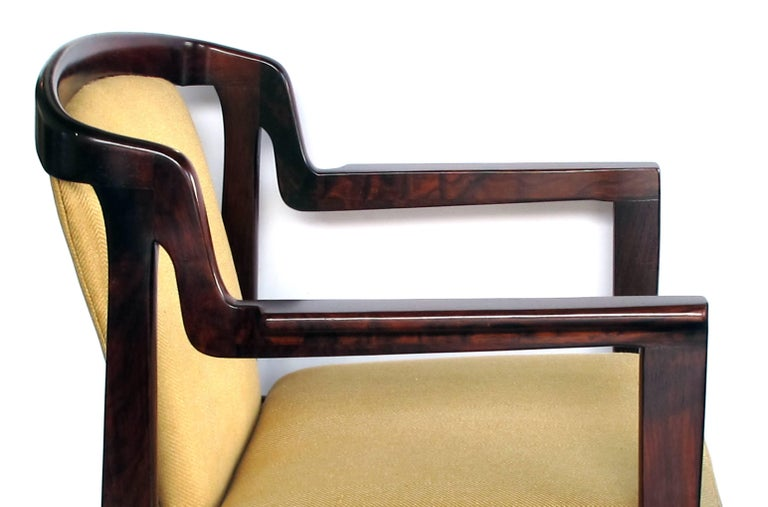 Pair of Danish Modern Rosewood Arm Chairs in the Manner of Kai Kristiansen In Excellent Condition For Sale In San Francisco, CA