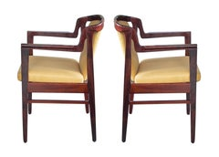 Pr of Danish Modern 1960's Rosewood Arm Chairs in the Manner of Kai Kristiansen