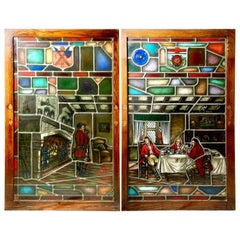 Equestrian Stained Glass Windows Depicting Fox Hunters, Lamb Studios Tenafly NJ