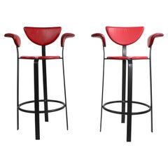 Pr. Postmodern Bar Height Stools Made in Denmark by BSK