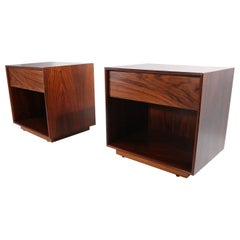 Pr. Rosewood Cube Night Stands Made in Sweden