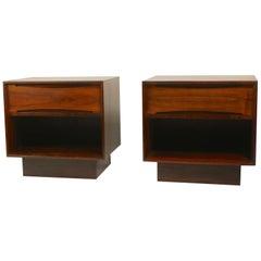 Pair of Rosewood Danish Modern Nightstands by Dyrlund