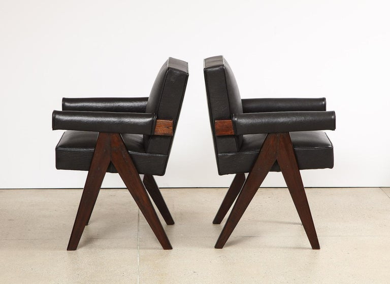 Indian Pierre Jeanneret Armchairs For Sale