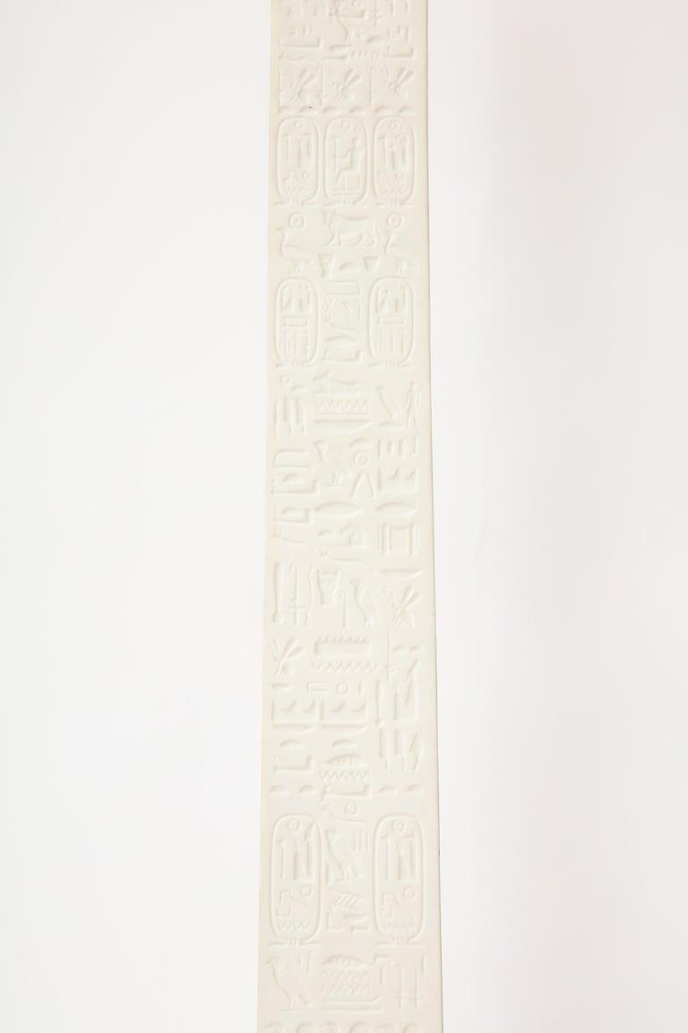 Pr. Signed Sevres Porcelain, Patinated and Gilt Bronze Mounted Egyptian Obelisks For Sale 3
