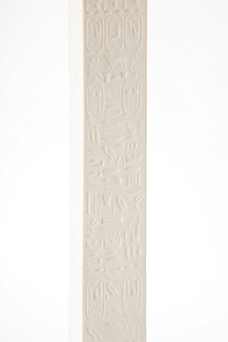 Pr. Signed Sevres Porcelain, Patinated and Gilt Bronze Mounted Egyptian Obelisks For Sale 4