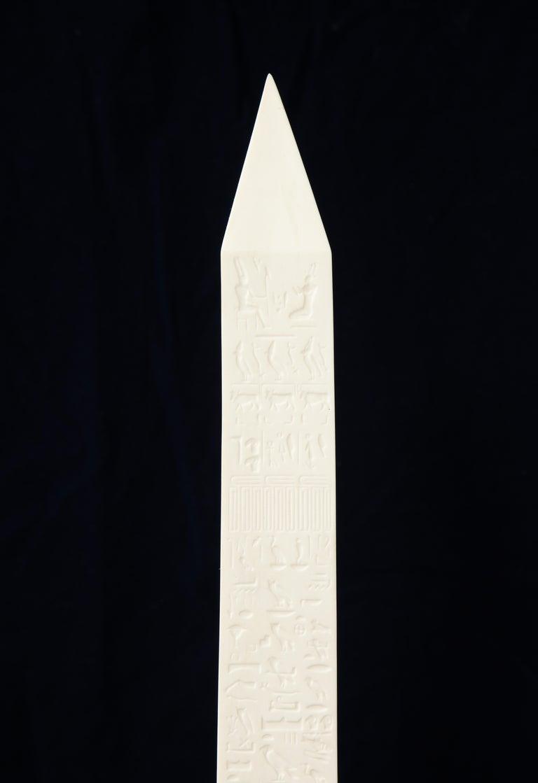Pr. Signed Sevres Porcelain, Patinated and Gilt Bronze Mounted Egyptian Obelisks For Sale 1