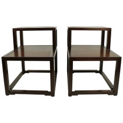 Pair of Step End Tables designed by Wormley for Dunbar