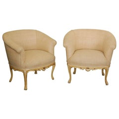 Pr  Upholstered Chairs