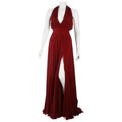 Prabal Gurung Burgundy Chiffon Gown