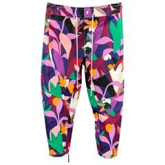 PRABAL GURUNG Size 34 Multi-Color Print Cotton 29 Elastic Waistband Casual Pants