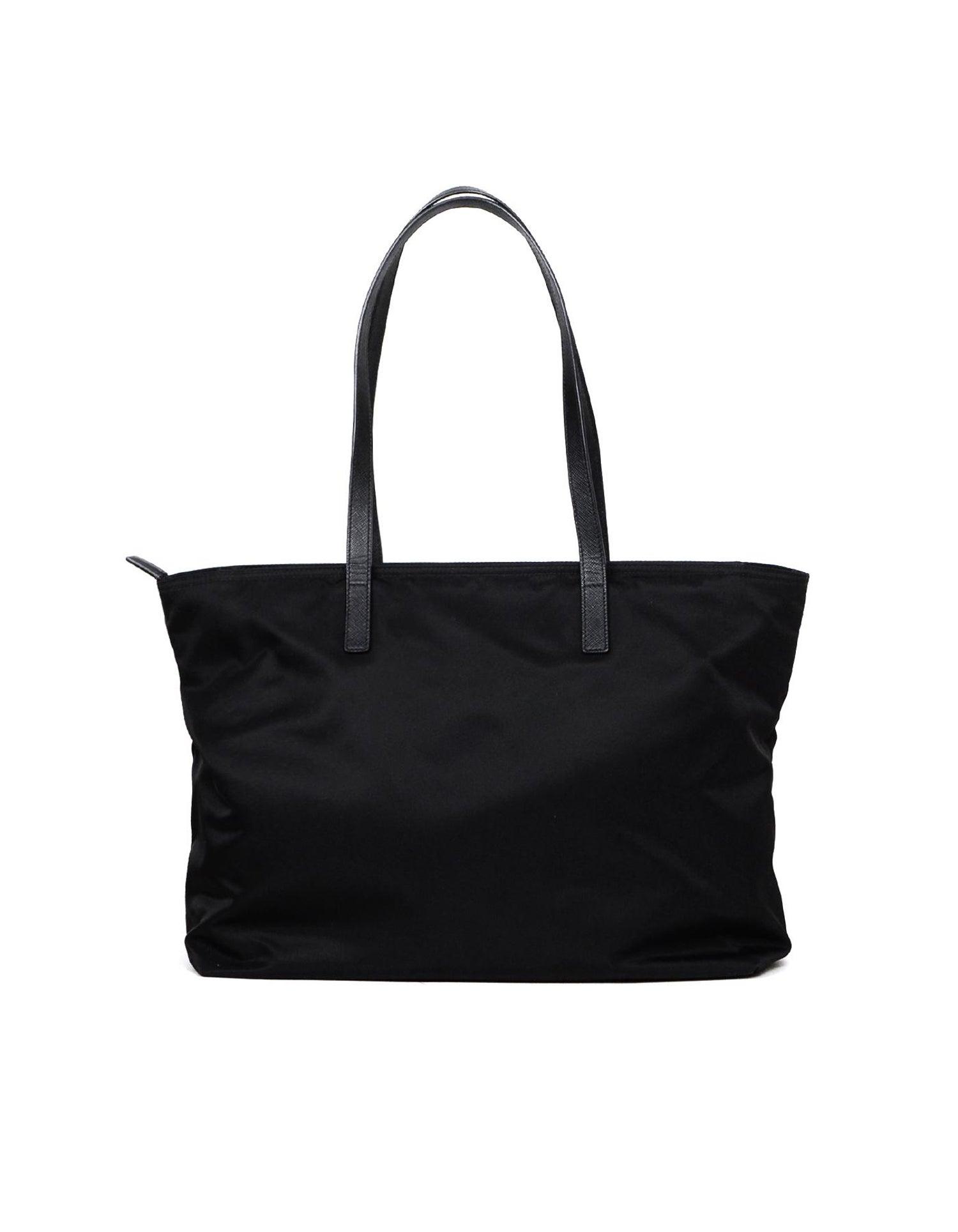 cdc77bba15d6 Prada 2018 Black Large Vela Nylon Tote Bag rt. $990 For Sale at 1stdibs