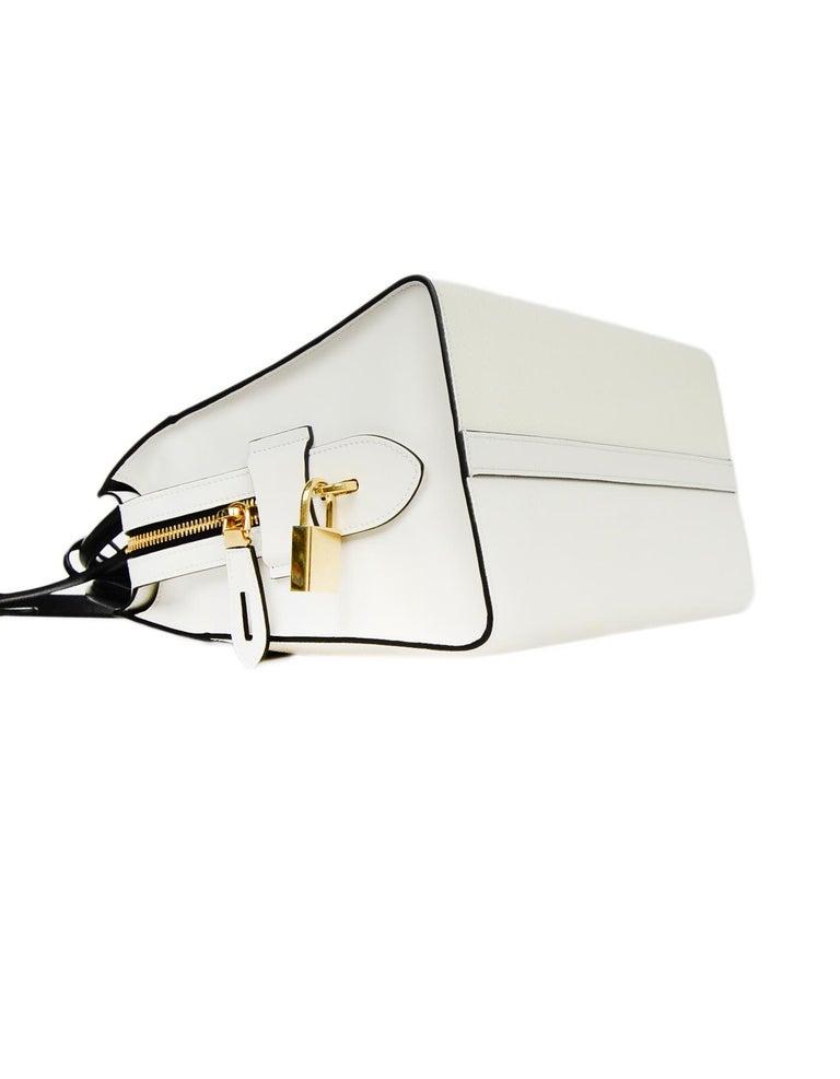 9215f71f4997 Women's Prada 2018 White/Black Bicolor Saffiano Leather Esplanade Tote Bag w/  Strap For