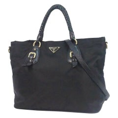 PRADA 2WAY shoulder Womens tote bag BN1826 Nero( black)