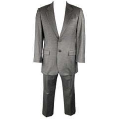 PRADA 40 Regular Gray Wool Notch Lapel Suit