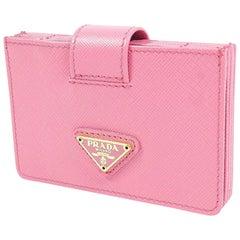 PRADA accordion pattern Womens card case 1M1211 GERANIO/ pink