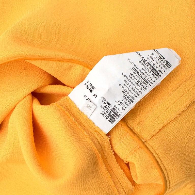 Prada Amber Yellow Ruffled Sleeveless Shift Dress XXS IT 38 For Sale 3