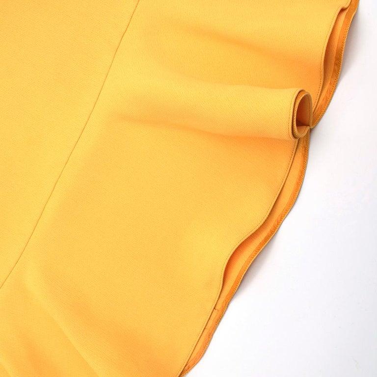 Prada Amber Yellow Ruffled Sleeveless Shift Dress XXS IT 38 For Sale 4