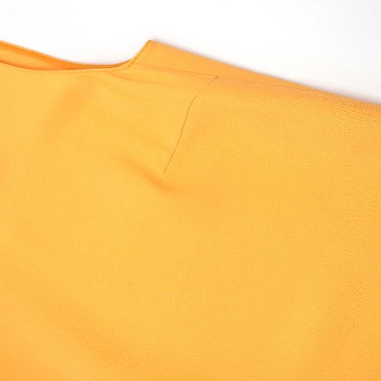 Prada Amber Yellow Ruffled Sleeveless Shift Dress XXS IT 38 For Sale 5