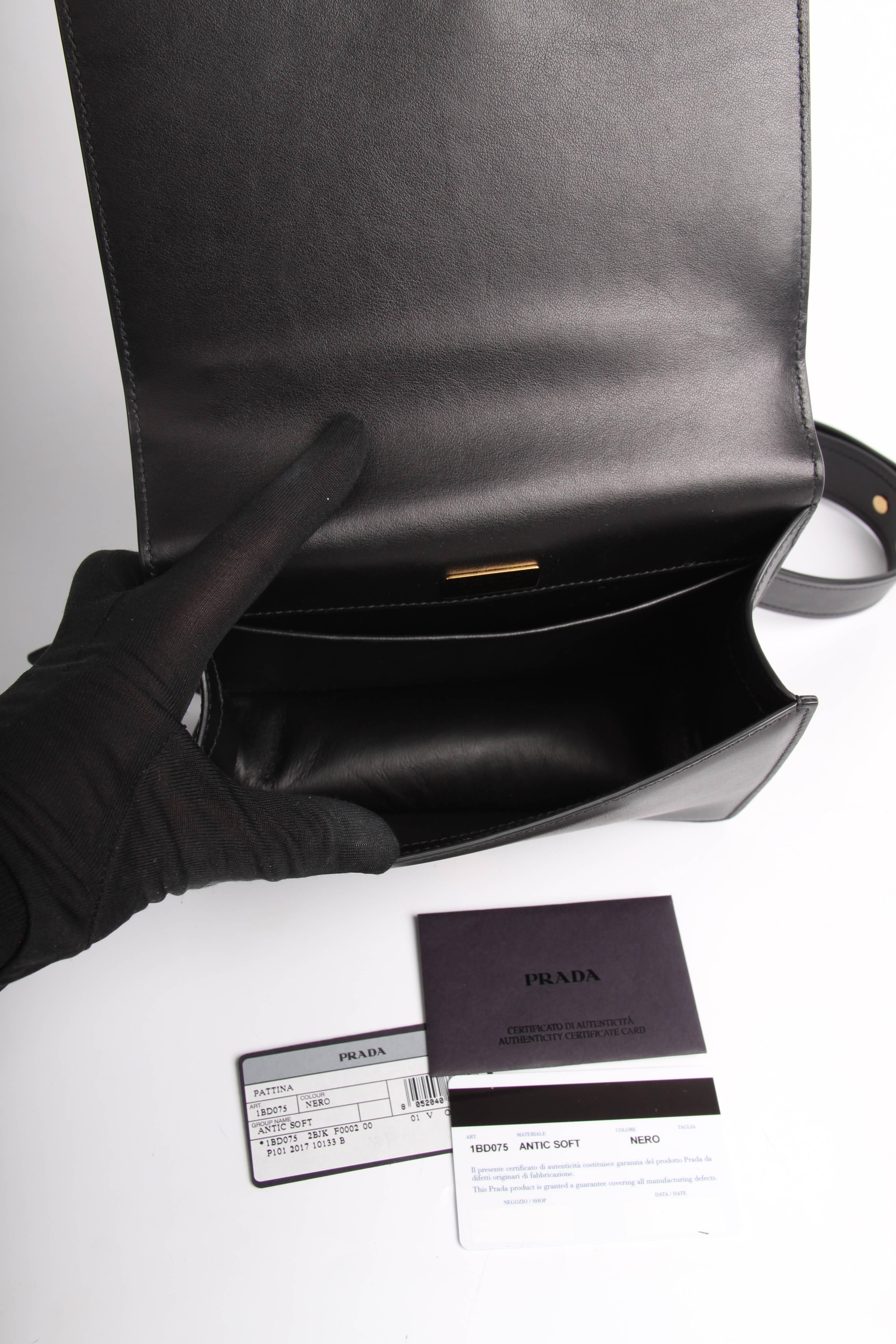 91ff43cf0c599a Prada Antic Soft Shoulder Bag - black 2018 For Sale at 1stdibs