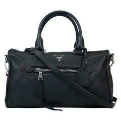 Prada, bag in black leather