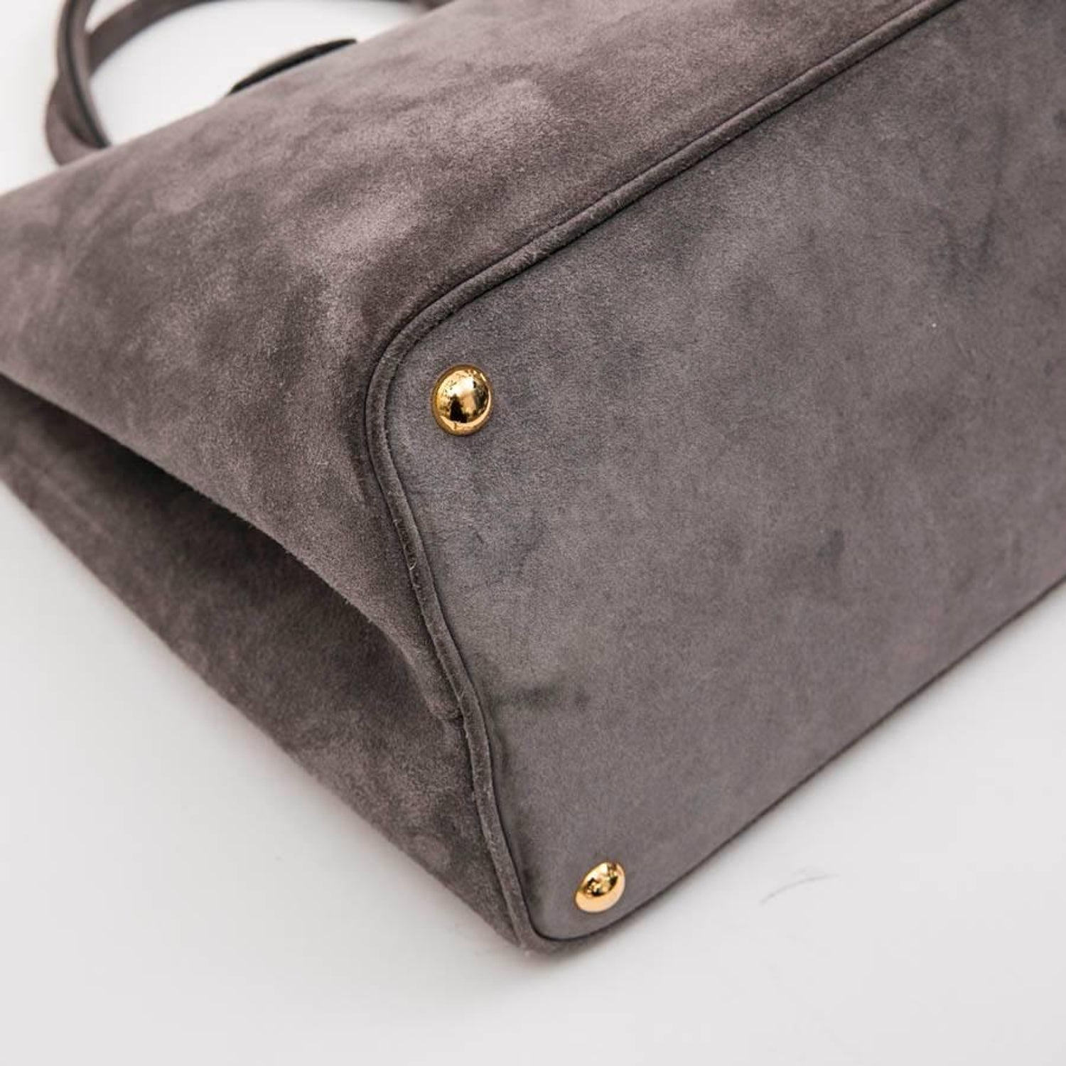 31a3a8a4d8 PRADA Bag in Pearly Gray Velvet Calfskin at 1stdibs