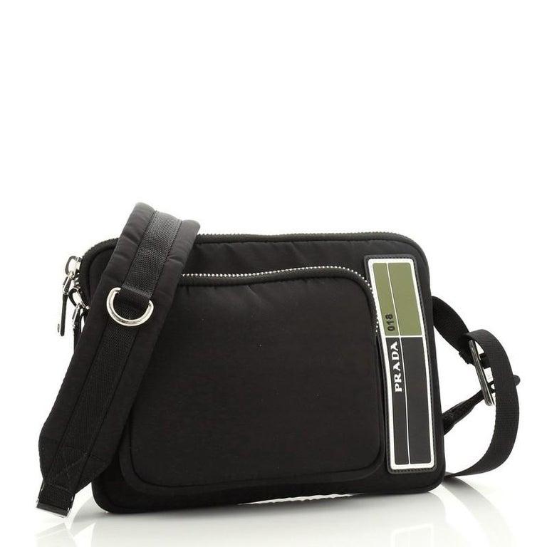 Prada Bandoleer Shoulder Bag Tessuto Medium In Good Condition For Sale In New York, NY