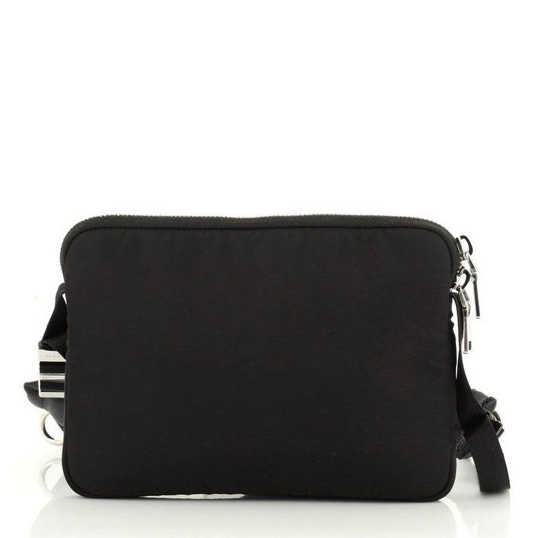 Women's or Men's Prada Bandoleer Shoulder Bag Tessuto Medium For Sale