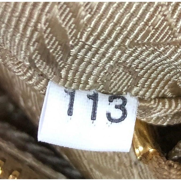Prada  Barrel Bag Perforated Saffiano Leather Medium For Sale 2