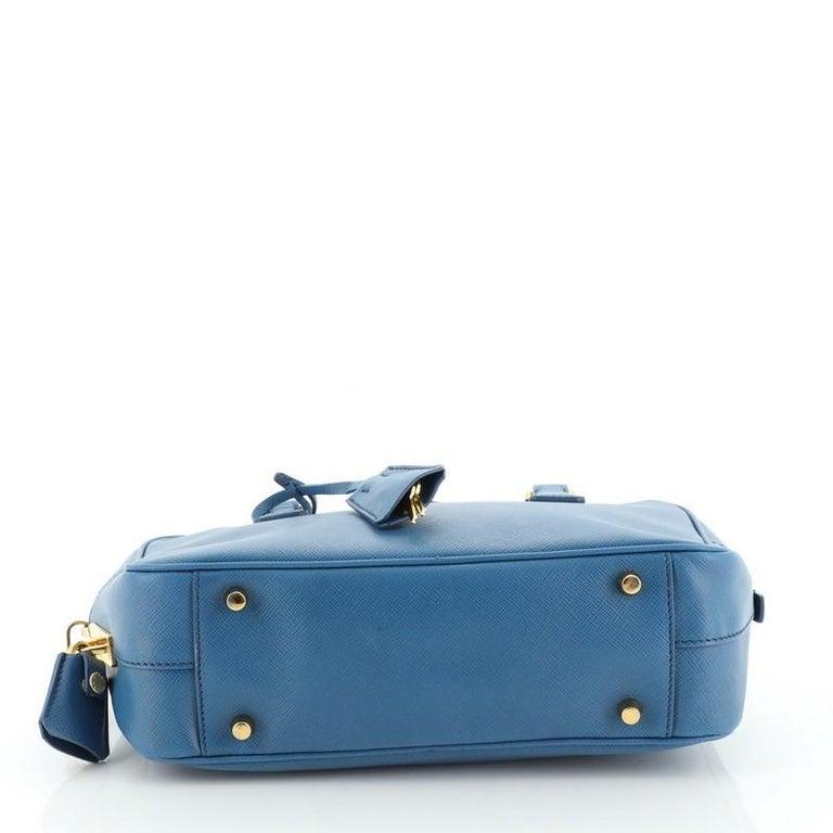 Women's or Men's Prada Bauletto Bag Saffiano Leather Small For Sale