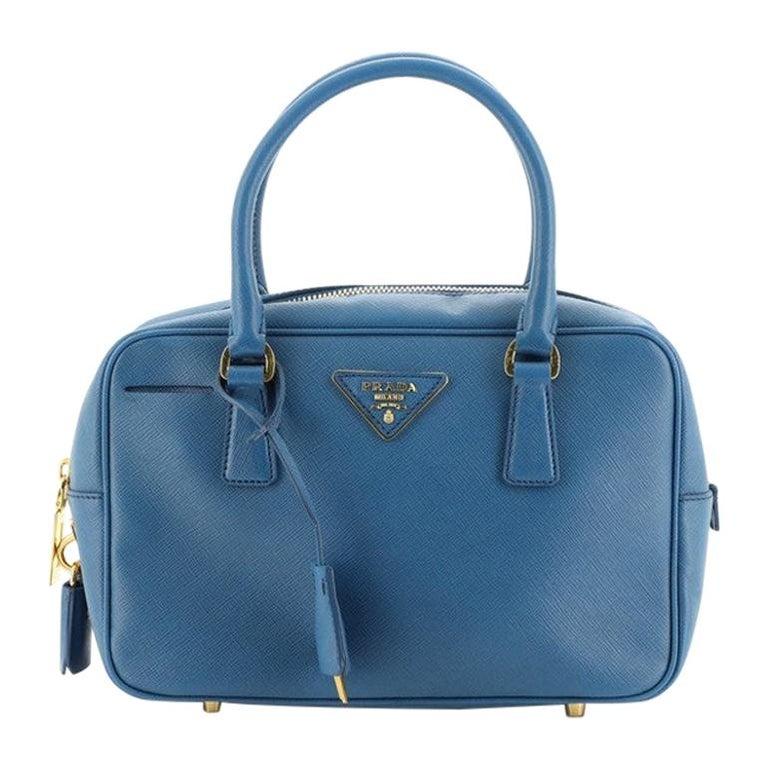 Prada Bauletto Bag Saffiano Leather Small For Sale