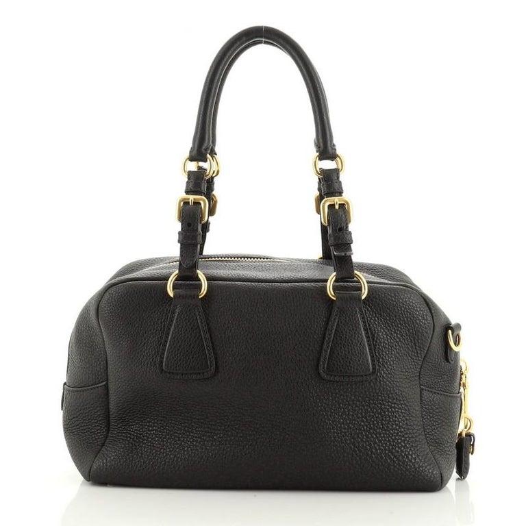Prada Bauletto Bag Vitello Daino Medium In Good Condition For Sale In New York, NY