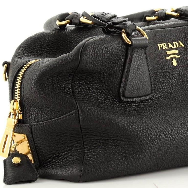 Prada Bauletto Bag Vitello Daino Medium For Sale 2
