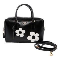 PRADA Baulleto Bag In Black Patent Saffiano Leather