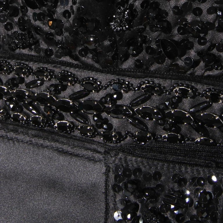 Prada Beaded Satin Dress FW2004 In Good Condition For Sale In Los Angeles, CA