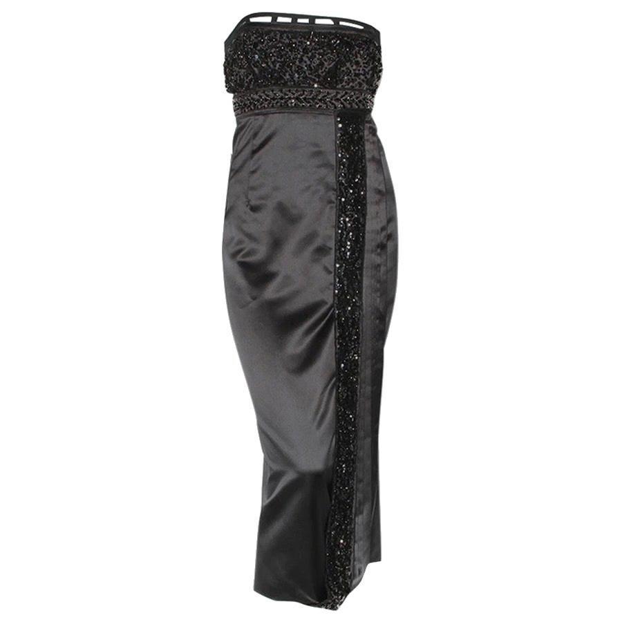 Prada Beaded Satin Dress FW2004