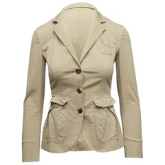 Prada Beige Cotton Blazer