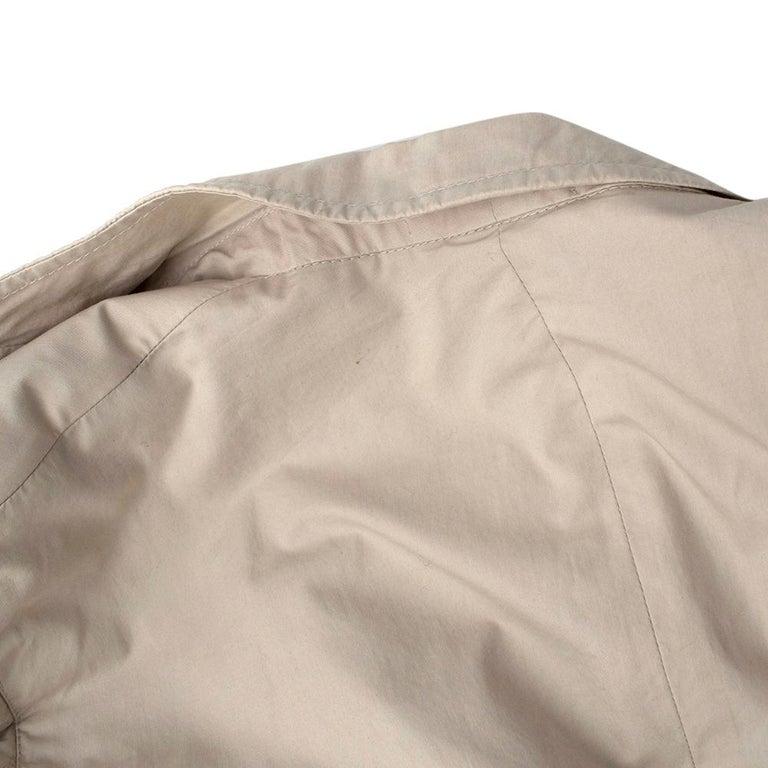 Women's or Men's Prada Beige Cotton Single Breasted Blazer Jacket - Size L IT50  For Sale