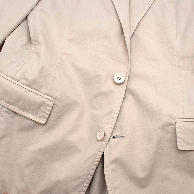 Prada Beige Cotton Single Breasted Blazer Jacket - Size L IT50  For Sale 3